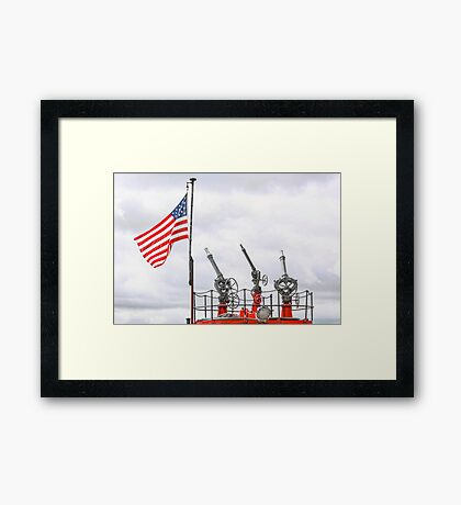 A Tribute To Marine Firefighters Framed Print