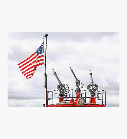 A Tribute To Marine Firefighters Photographic Print