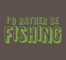I'd rather be fishing One Piece - Short Sleeve