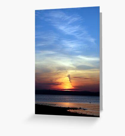 Ballyholme Sundown Greeting Card