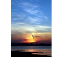 Ballyholme Sundown Photographic Print