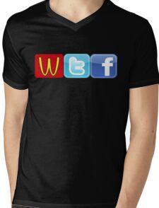 WTF Mcdonalds, Twitter And Facebook Mens V-Neck T-Shirt