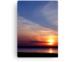 Ballyholme Sunset Canvas Print