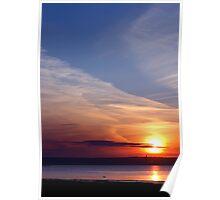 Ballyholme Sunset Poster