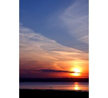 Ballyholme Sunset Photographic Print