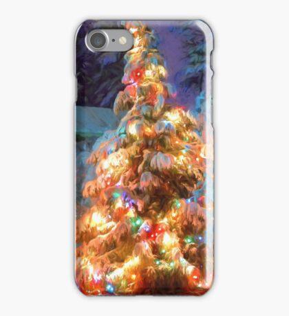 Snowy Christmas Tree iPhone Case/Skin