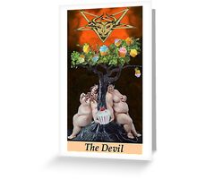 THE DEVIL Greeting Card