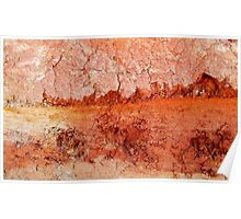 Red Earth Sunset Poster
