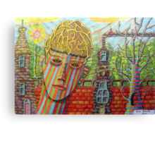 342 - FANTASY FACE - DAVE EDWARDS - COLOURED PENCILS - 2011 Canvas Print