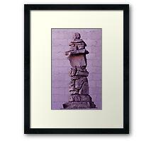 Inuksuk in Violet  Framed Print
