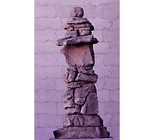 Inuksuk in Violet  Photographic Print