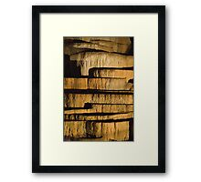 Limestone stacks Framed Print