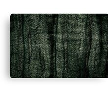 Green grunge cloth texture Canvas Print