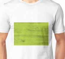 Bright green wood structure as a background texture Unisex T-Shirt