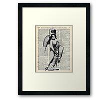 Vintage Girl in robot costume  Dictionary Art Framed Print