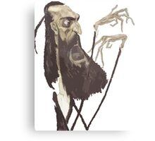 Vector of a Spindly Bearded Man Canvas Print