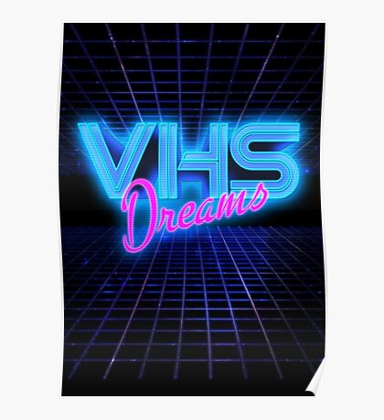 VHS Dreams Grid Poster