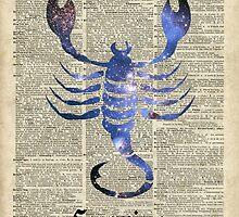 Scorpius Scorpion Zodiac Sign  by DictionaryArt