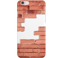 Red bricks broken wall and chuckhole iPhone Case/Skin