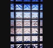Blue toned glass brick window abstract  Unisex T-Shirt