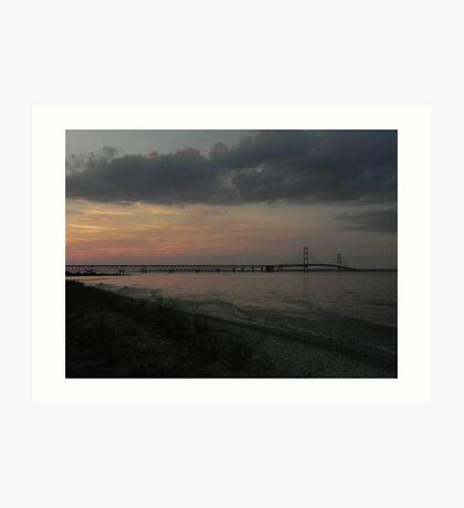 Mackinac Sunset Art Print