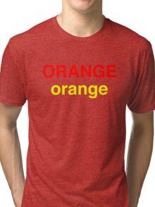 Orange # 2 Tri-blend T-Shirt