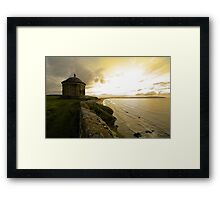 """""""Temple on the cliff"""" Framed Print"""