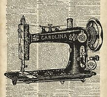 Vintage Sewing machine Dictionary Book Page by DictionaryArt
