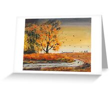 October Breezes Greeting Card