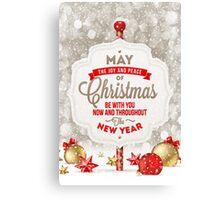 Joy and Peace Christmas Card Canvas Print