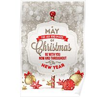 Joy and Peace Christmas Card Poster