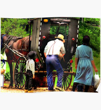 Amish Family Poster