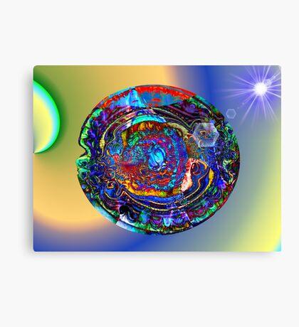 Three Layer Abstract: Sun Shield (110817) Canvas Print