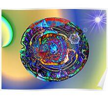 Three Layer Abstract: Sun Shield (110817) Poster