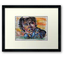 Tom Welling, Clark Kent of Smallville, featured in The Group Framed Print