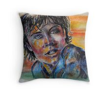 Tom Welling, Clark Kent of Smallville, featured in The Group Throw Pillow
