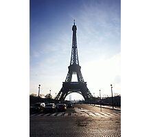 Silhouette of Paris Photographic Print