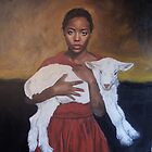 Girl with Lamb by ralph macdonald