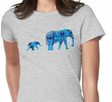 Inkblot Elephants Womens Fitted T-Shirt