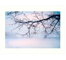 A BREATHING TOO QUIET TO HEAR Art Print