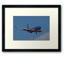 N293WN, Southwest Airlines, Boeing 737-7H4 Framed Print