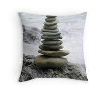 Zen Beach Garden  Throw Pillow