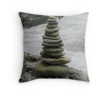Zen Beach Garden  Throw Pillow