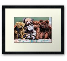 Teddies in a huggle! Framed Print