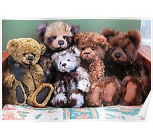 Teddies in a huggle! Poster