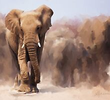 African Elephant  by Michael Greenaway