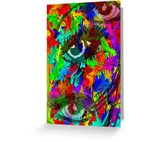 Eyes of color Greeting Card
