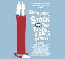 Sherlock, Stock and 221B Baker Street One Piece - Short Sleeve