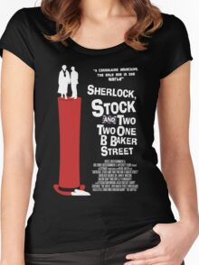 Sherlock, Stock and 221B Baker Street Women's Fitted Scoop T-Shirt