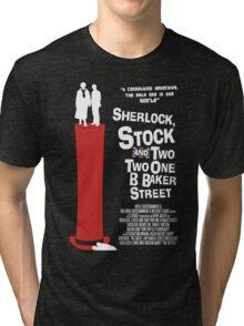 Sherlock, Stock and 221B Baker Street Tri-blend T-Shirt